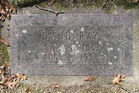 Grafsteen David Ray van Blaricom
