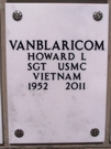 Memorial plaque Howard Lionel van Blaricom