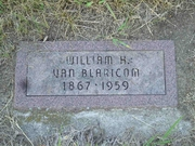 Gravestone William Henry van Blaricom