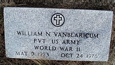 Gravestone William N. van Blaricum