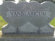 Gravestone William Richard van Blaricum